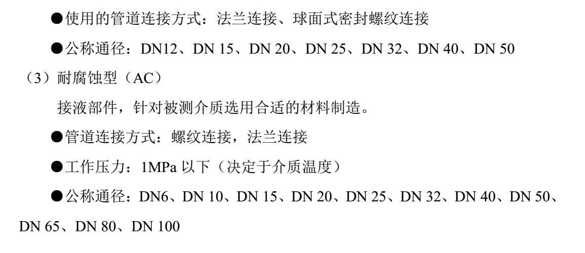 有机溶剂用涡轮流量计选型说明3